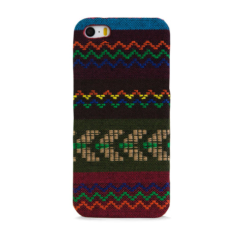FABRIC WITH AZTEC PATTERN WIDE IPHONE 5/5S CASE