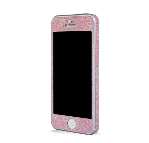 IPHONE 5 GLAM GLITTER SCREEN PROTECTOR & SKINS - PINK