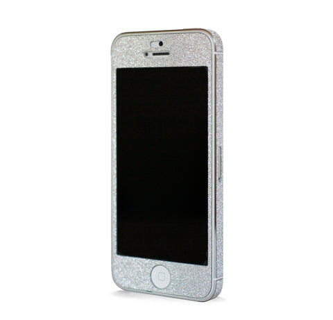 IPHONE 5 GLAM GLITTER SCREEN PROTECTOR & SKINS - SILVER
