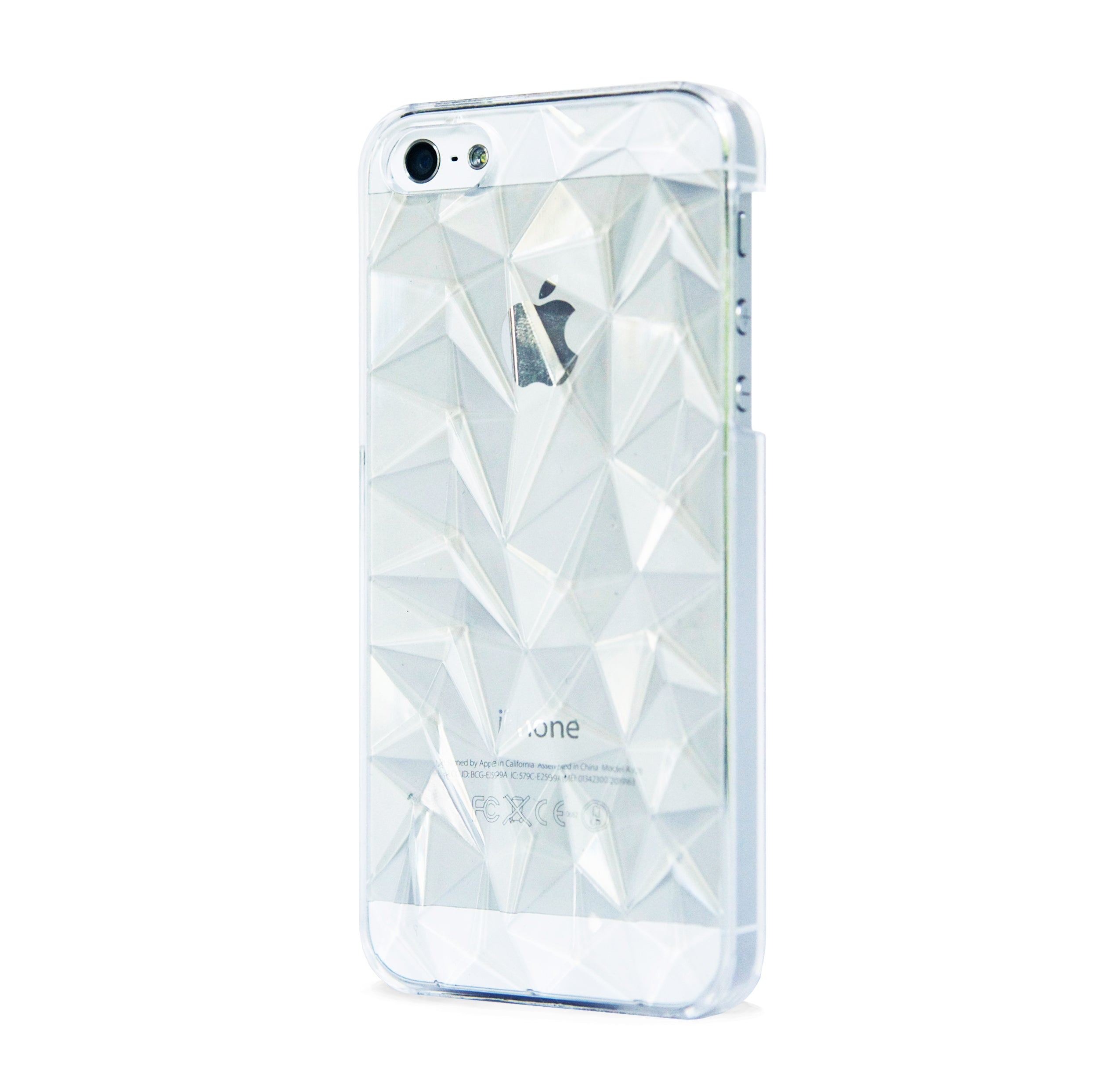 IPhone 5/5s MULTI FACETED CASE CLEAR BlissfulCASENY - 2550x2452 - jpeg