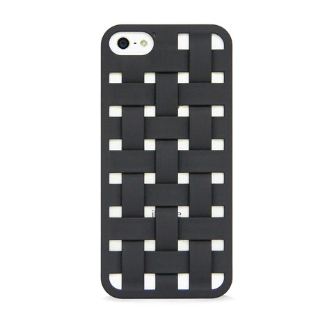 iPhone 5/5s woven pattern design case BLACK