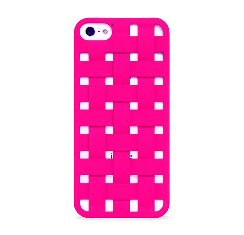 iPhone 5/5s woven pattern design case PINK