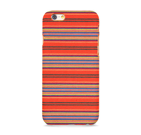 FABRIC WITH LINE PATTERN IPHONE 6/6s CASE