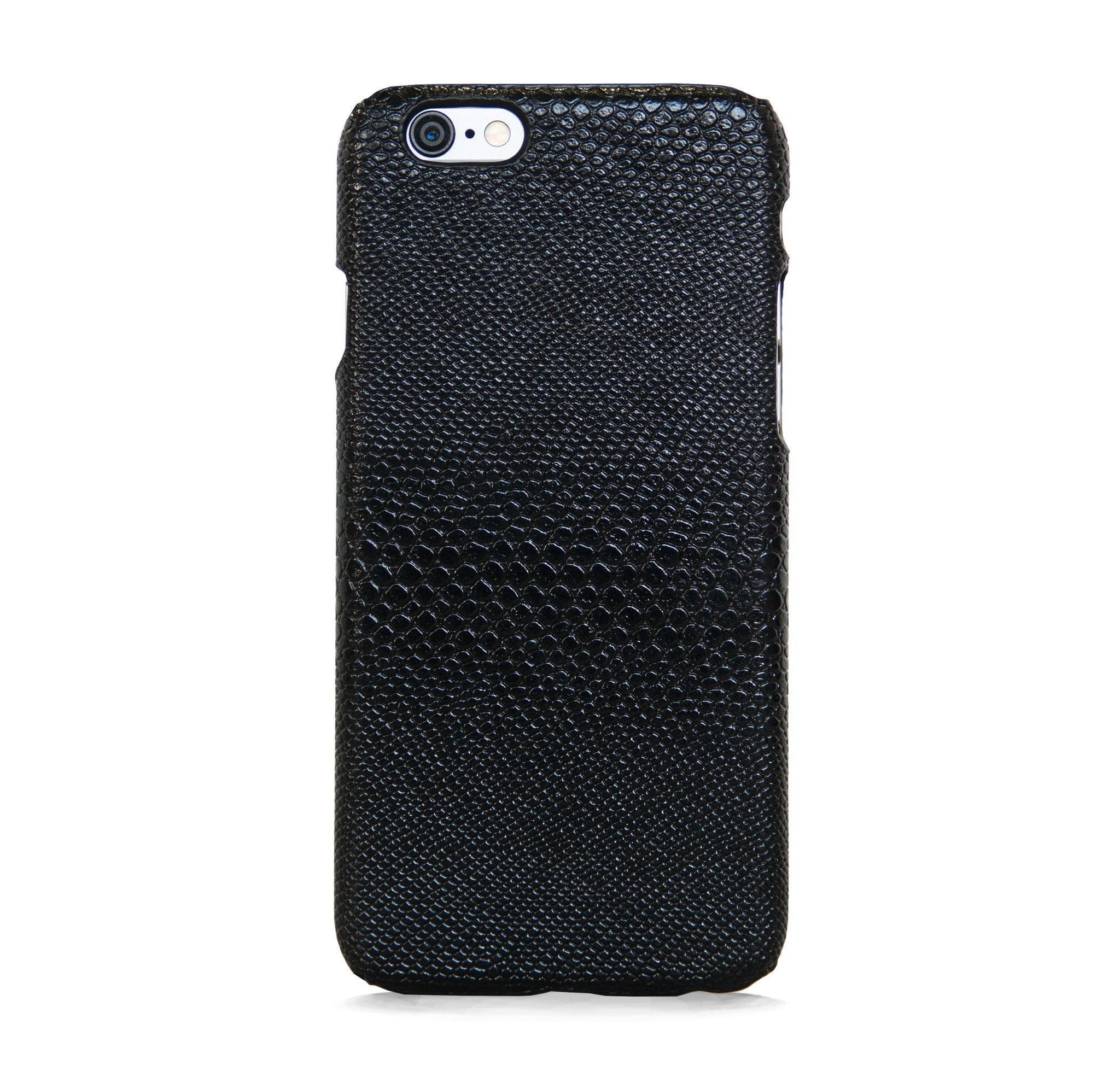 IPHONE 6/6s FAUX LEATHER BLACK CASE