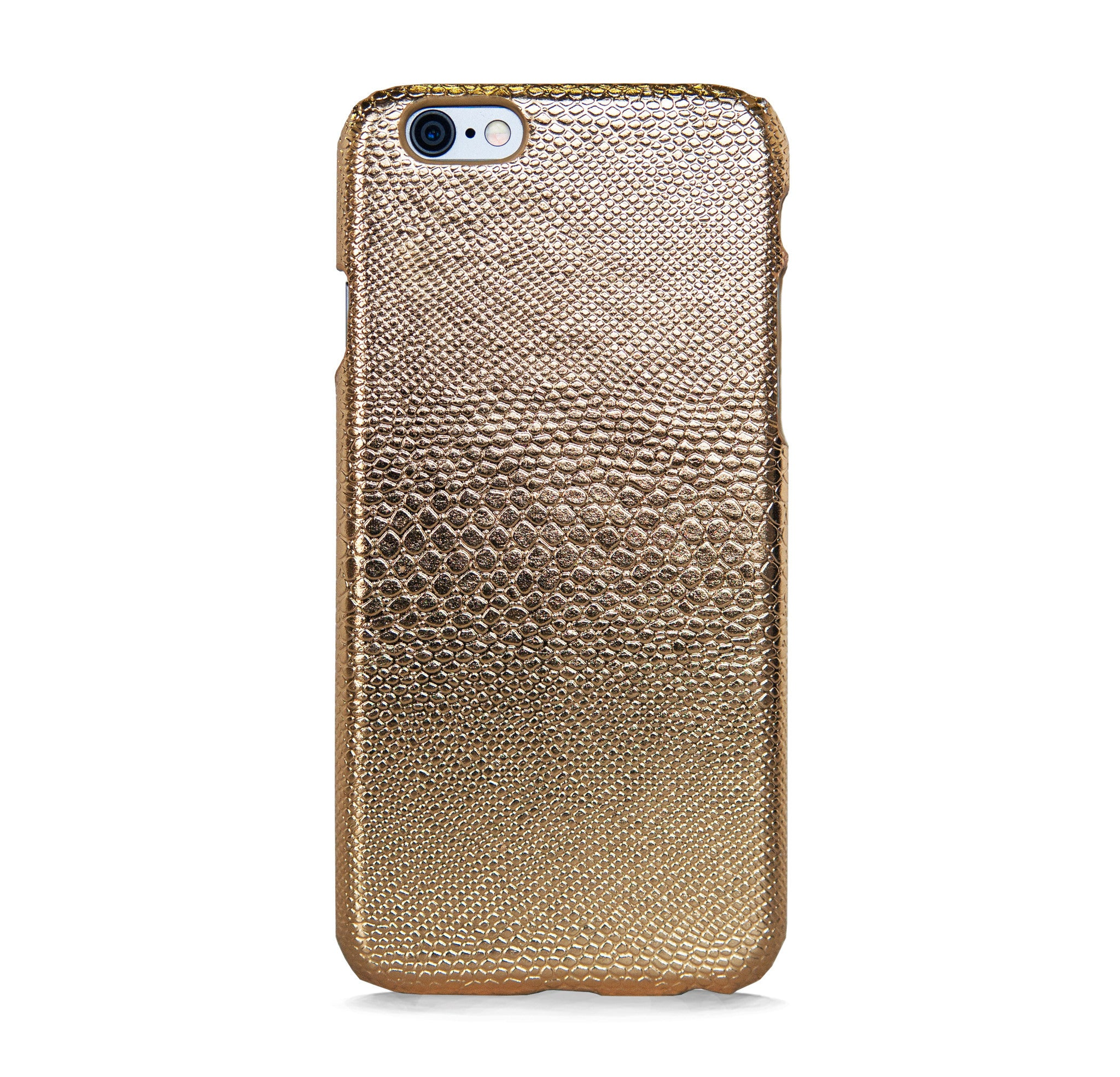 IPHONE 6/6s FAUX LEATHER GOLD CASE