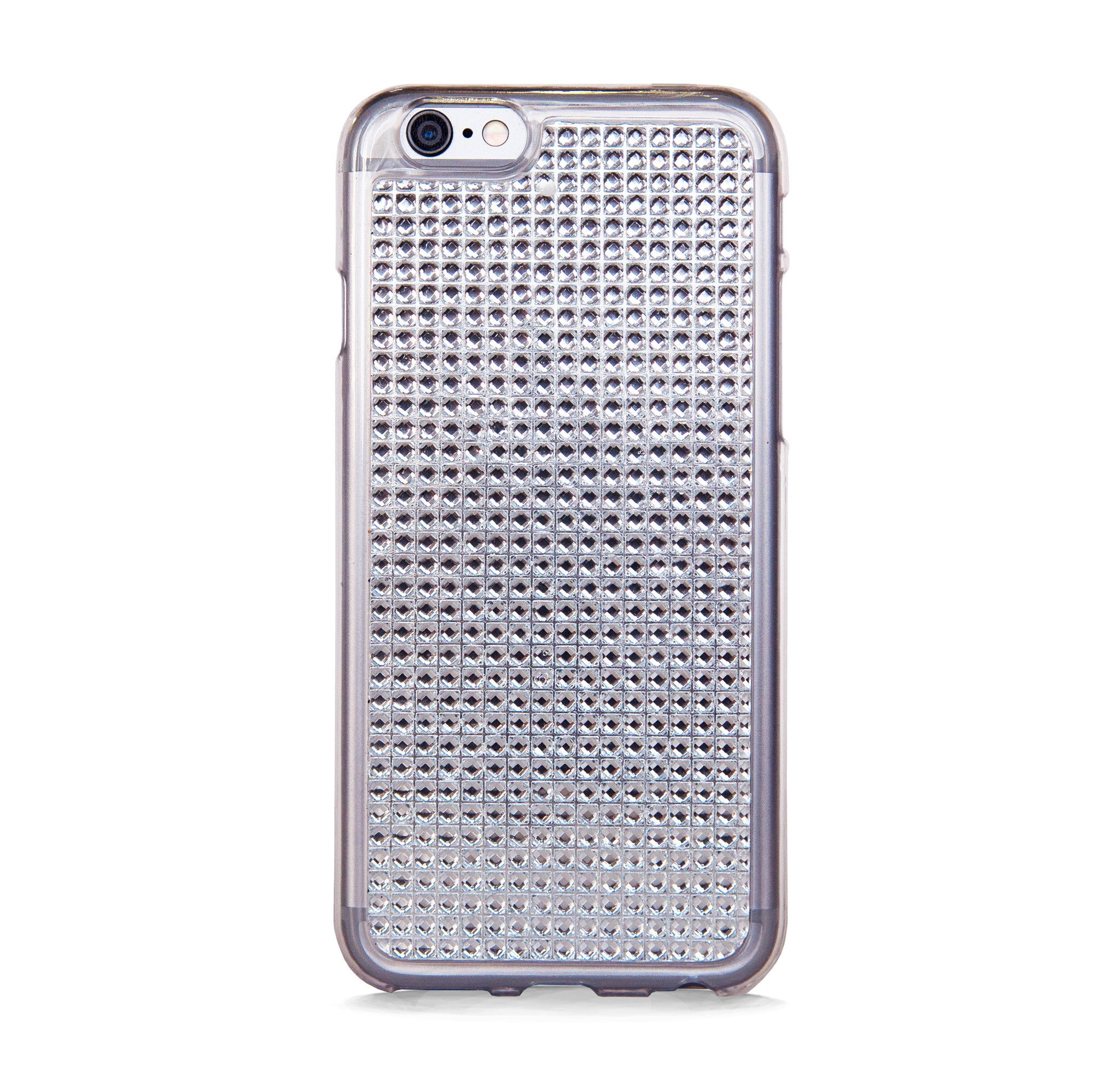 IPHONE 6/6s CLEAR RHINESTONES RUBBER CASE