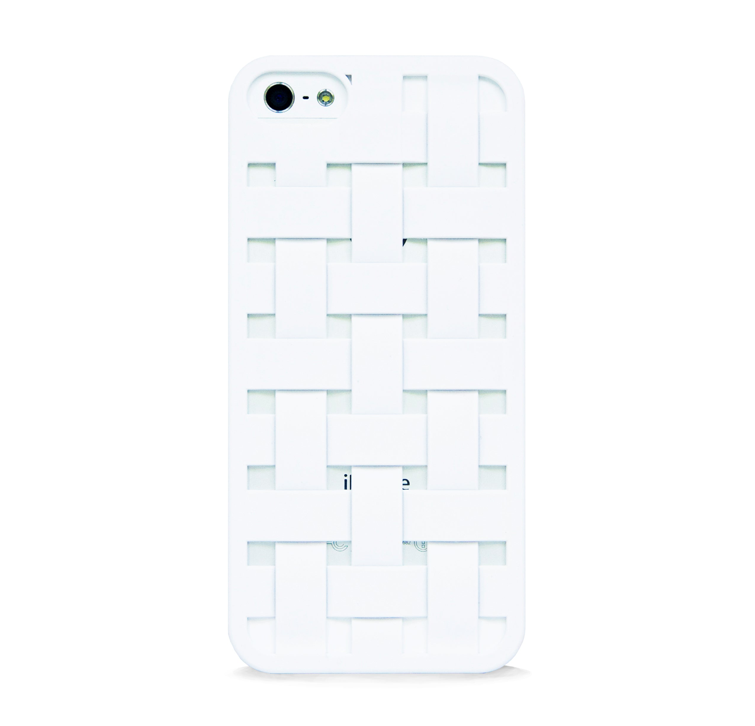 iPhone 5/5s woven pattern design case WHITE