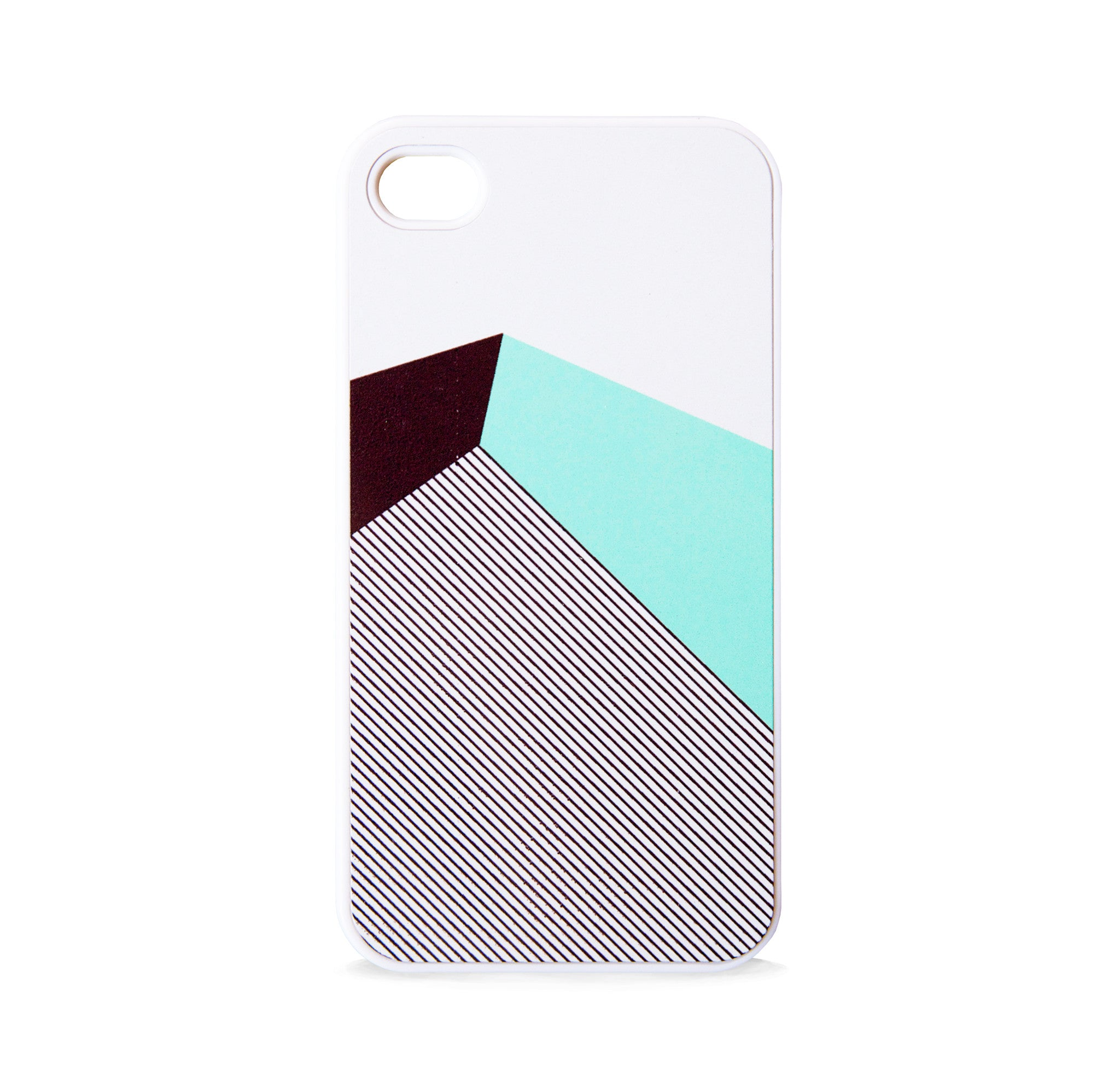 COLOR BLOCK GEO MINT STRIPE FOR IPHONE 4/4S