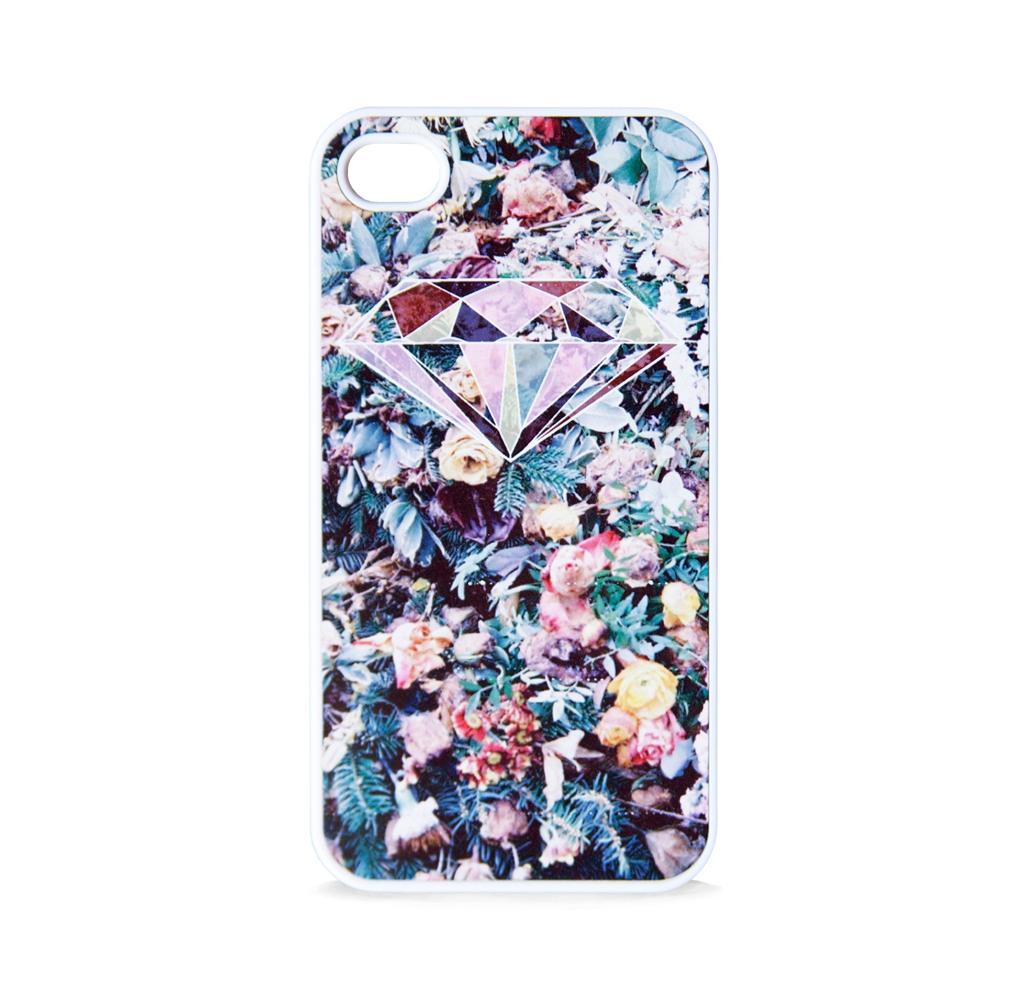 DIAMOND ON FLOWERS FOR IPHONE 4/4S