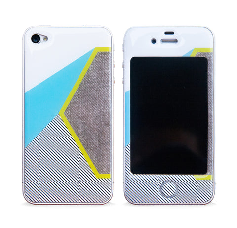 COLOR BLOCK HEX 3D GEL SKIN FOR IPHONE 4/4S