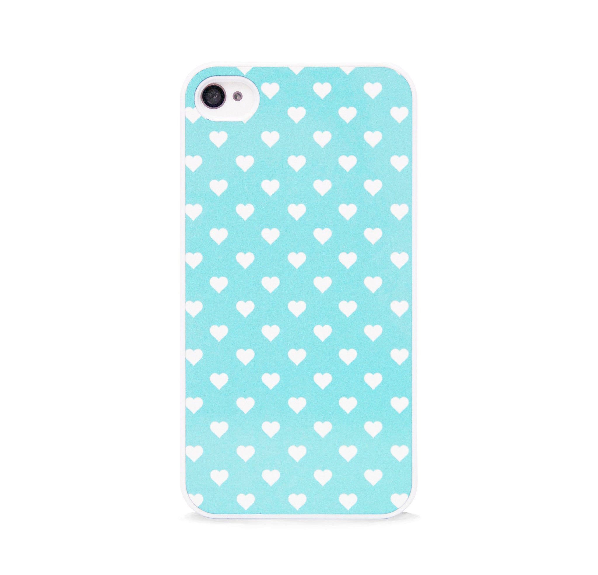 POLKA HEART MINT FOR IPHONE 4/4S