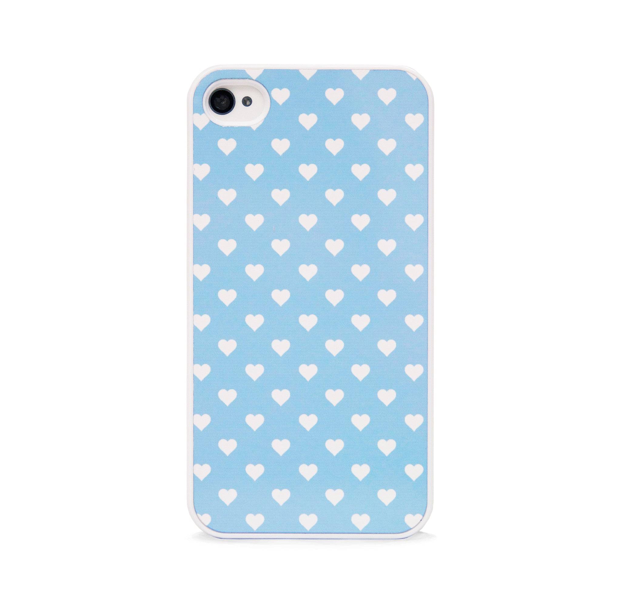 POLKA HEART BLUE FOR IPHONE 4/4S