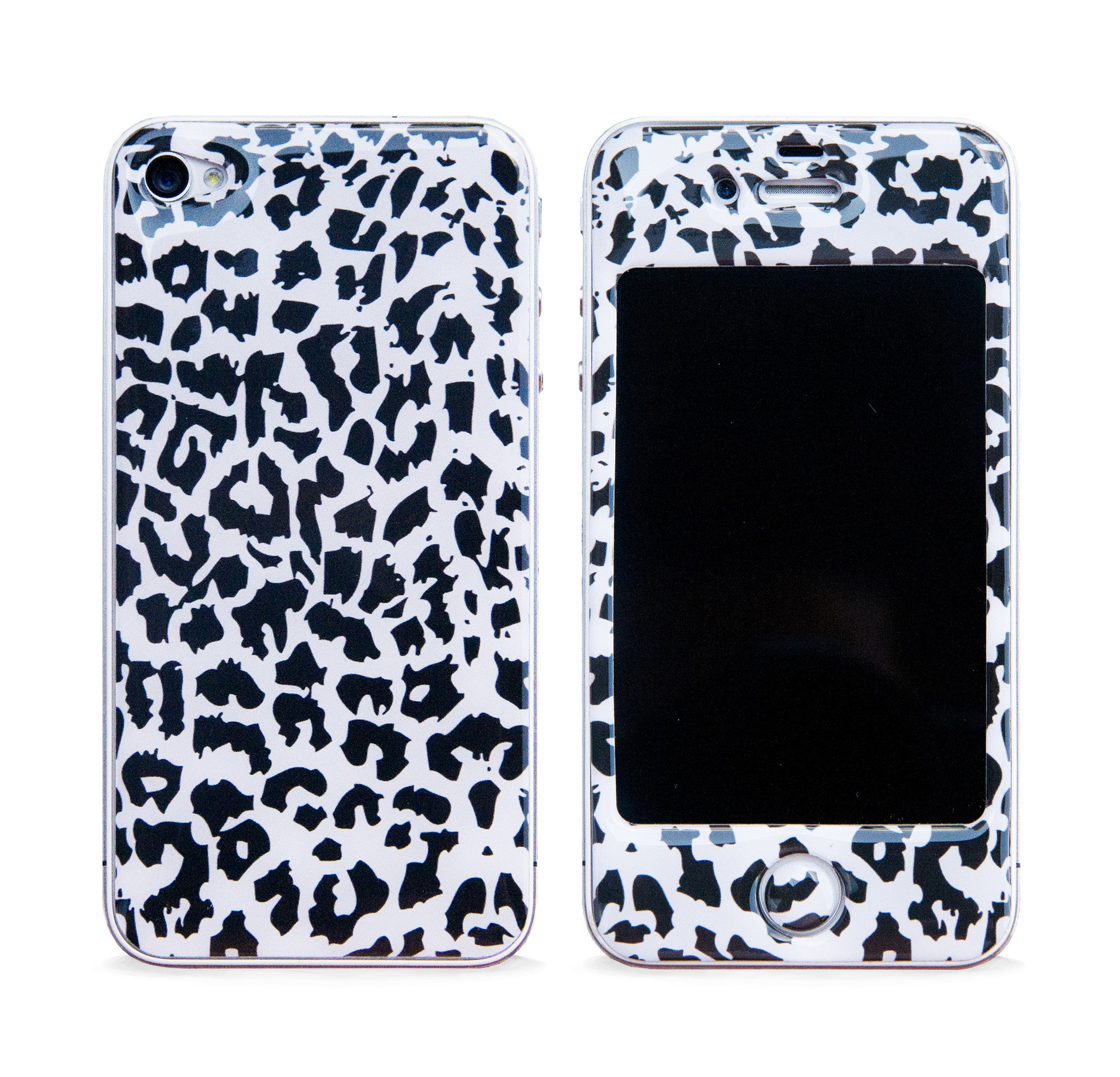 LEOPARD PRINT BLACK 3D GEL SKIN FOR IPHONE 4/4S