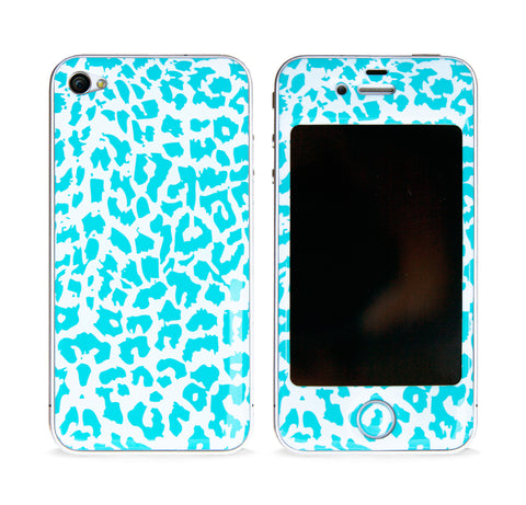 LEOPARD PRINT MINT 3D GEL SKIN FOR IPHONE 4/4S