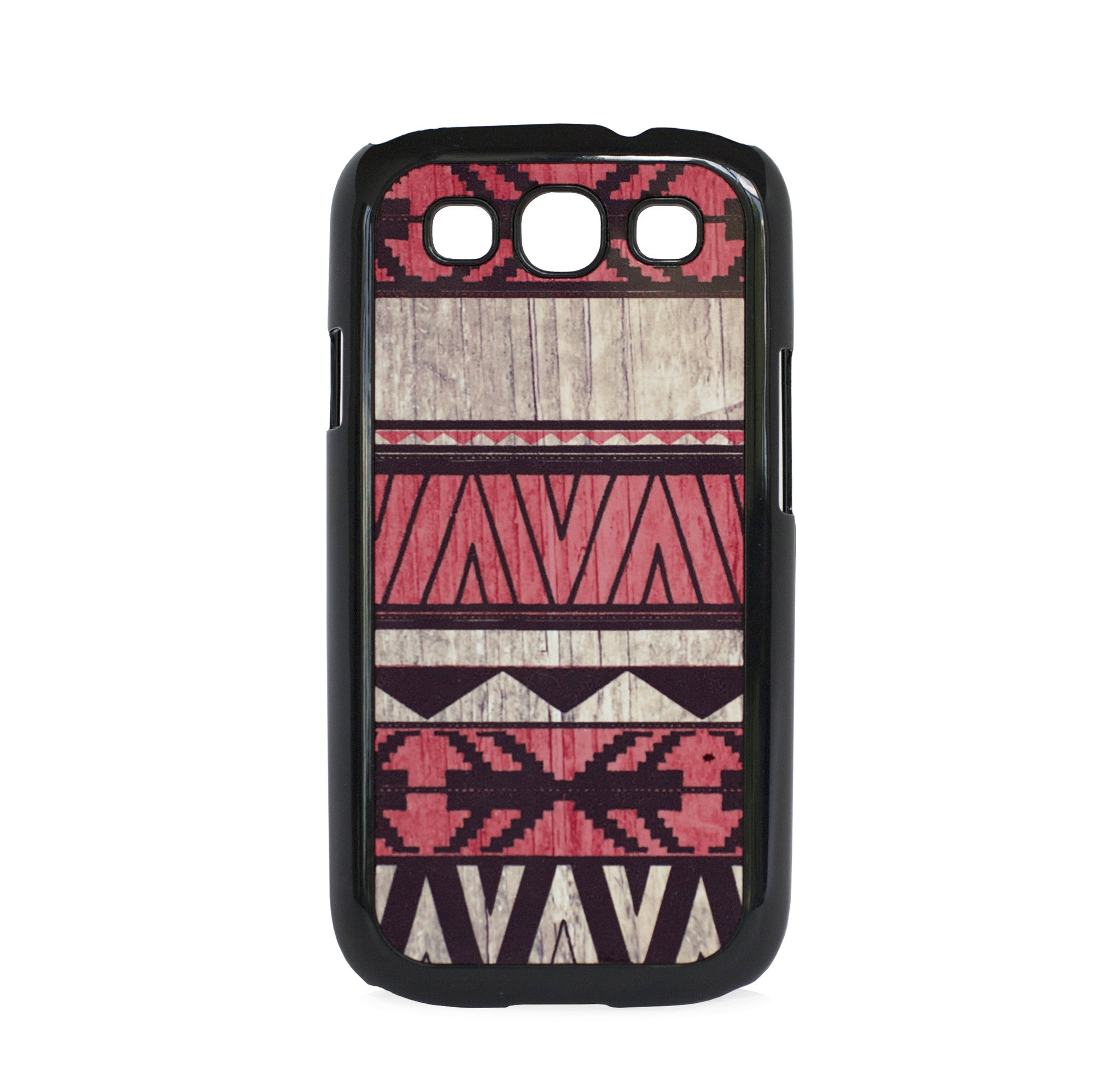 GALAXY S3 AZTEC ON WOOD PRINT RED