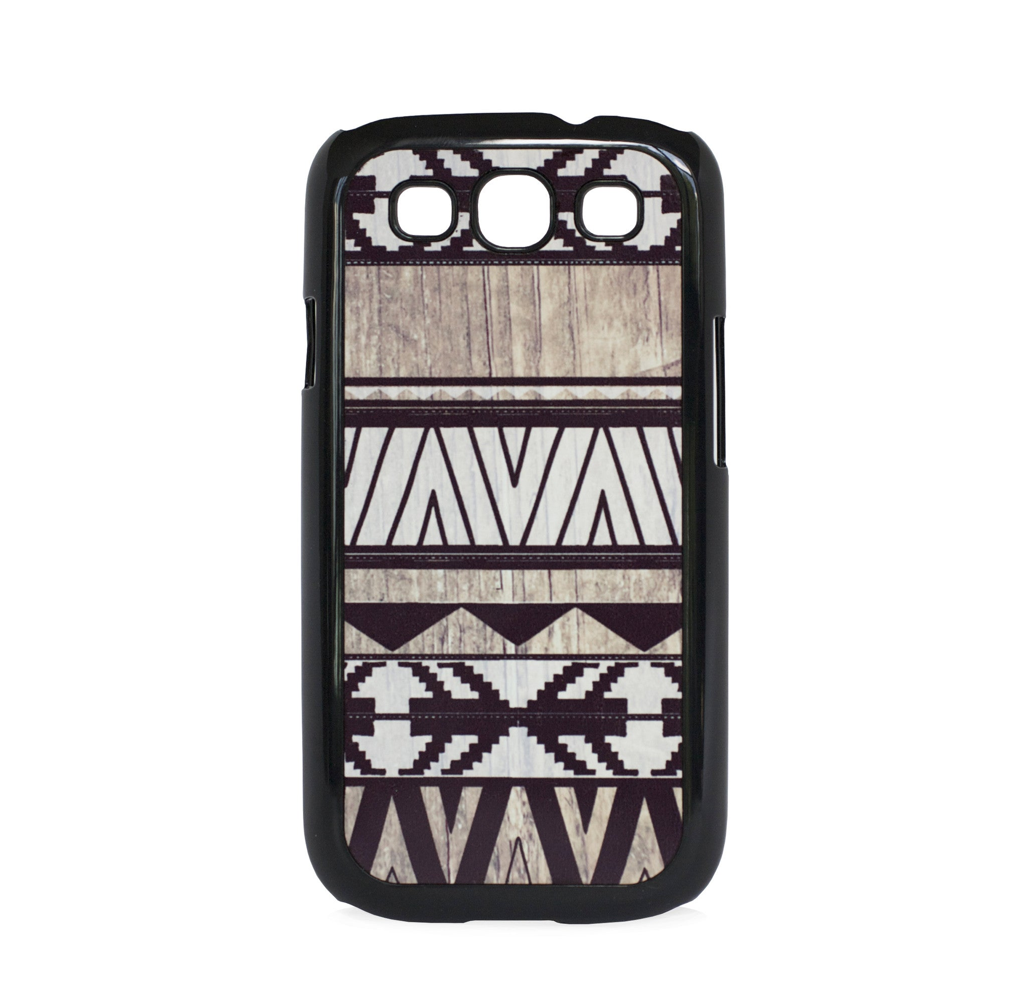 GALAXY S3 AZTEC ON WOOD PRINT WHITE