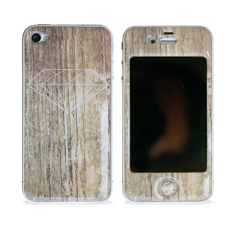 DIAMOND WOOD 3D GEL SKIN FOR IPHONE 4/4S