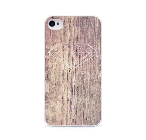 DIAMOND ON WOOD FOR IPHONE 4/4S