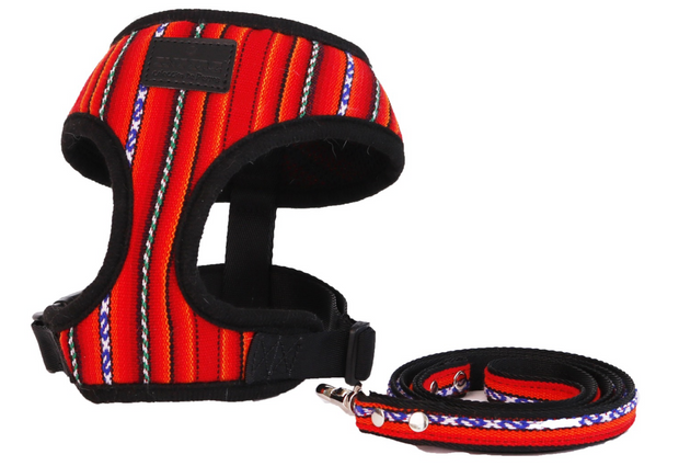 [Harness] For Small~Mid Size Pet_Red - Inpire Co.