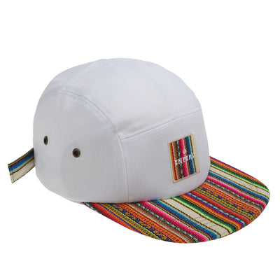 [Kids] Inca fabric_Camp Cap_White - Inpire Co.