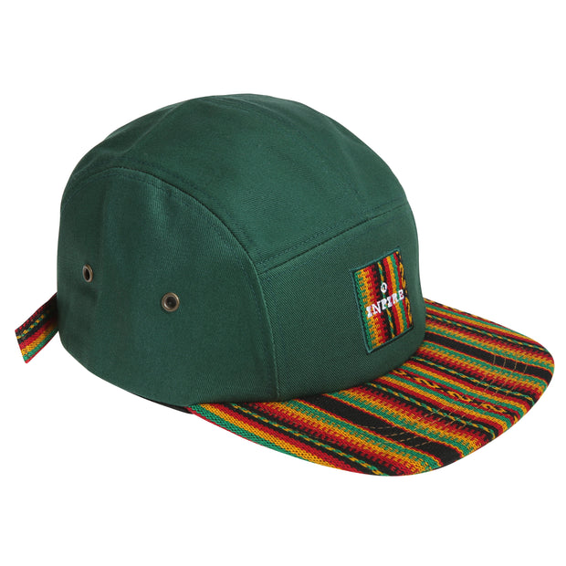 [Kids] Inca fabric_Camp Cap_Green - Inpire Co.