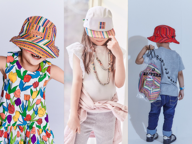 [Kids] Inca Fabric_Bucket hat_Green - Inpire Co.