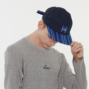 [Camp Cap] Inca fabric_Camp Cap_Blue - Inpire Co.