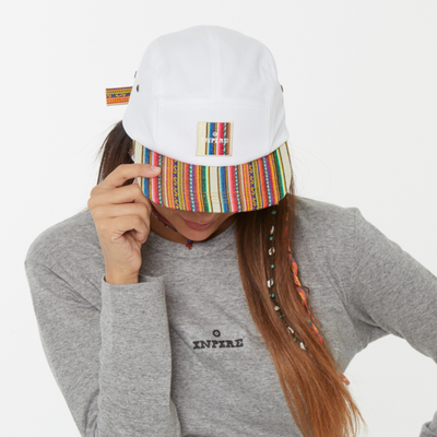 [Camp Cap] Inca fabric_Camp Cap_White - Inpire Co.