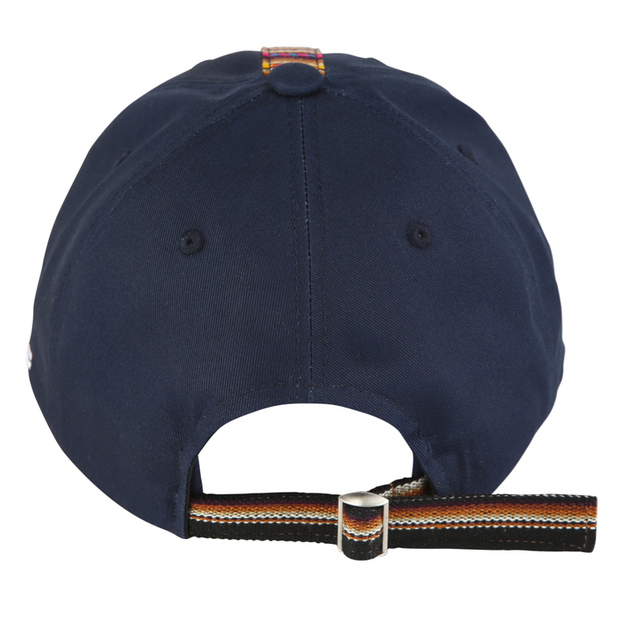 [Daily Cap] Inca Fabric_Stripe Cap_Navy/Brown - Inpire Co.