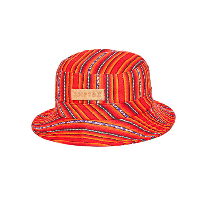 [Kids] Inca Fabric_Bucket hat_Red - Inpire Co.