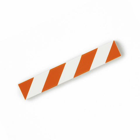 Hazard Tile 1x6 (Orange & White)