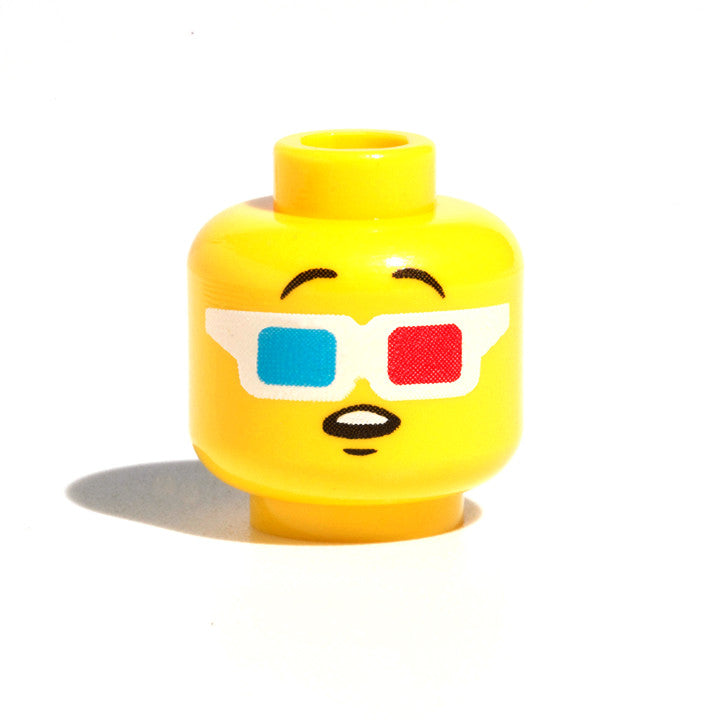 3D Glasses Head - Yellow
