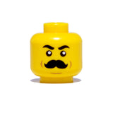 Old Timey Mustache Head - Yellow