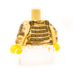 Back of digital camo US Army ACU torso with vest