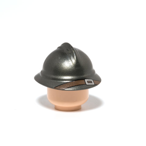 Minifig ww1 adrian helmet accessory in gunmetal