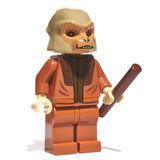 Orange ape minifig with weapon - state of the planet