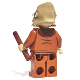 Back of orange ape minifig with weapon - state of the planet