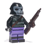 Purple ape minifig with weapon - state of the planet