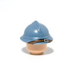 Minifig ww1 adrian helmet accessory in sand blue