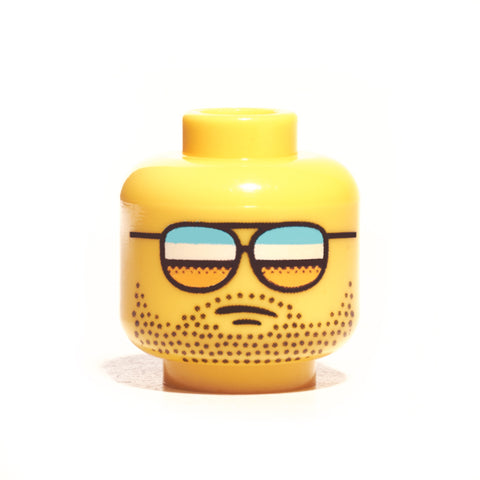 Aviator Glasses Head - Yellow