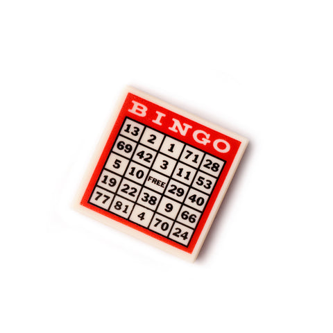 Custom bingo minifigure tile accessory