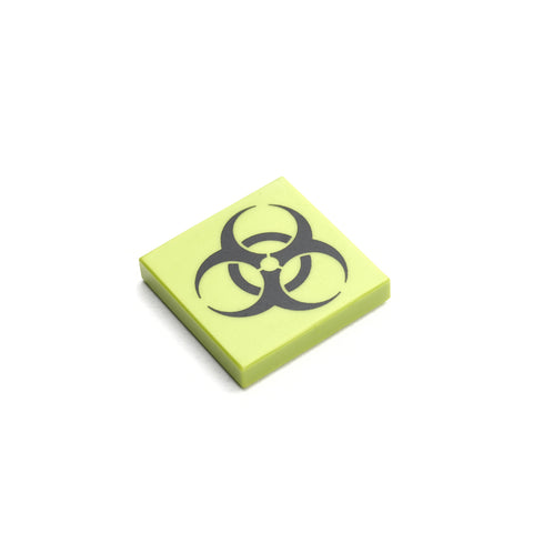 Custom minifigure biohazard safety tile