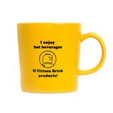 Yellow stoner mug back