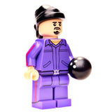 Bowling Buddies Ultimate Collector Series Purple Jumpsuit Bowling Ball Do Rag Front