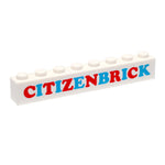 Citizen Brick CB Badge Brick White 1x8