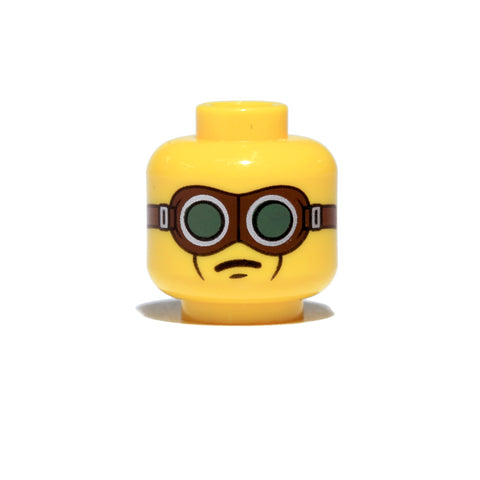 LEGO tanker goggles WW2 Yellow