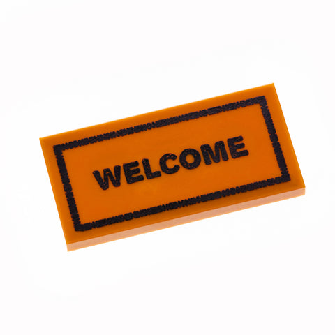 Welcome Mat - Dark Orange