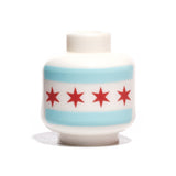 Chicago Flag Head