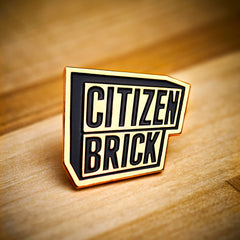 Citizen Brick Enamel Pin
