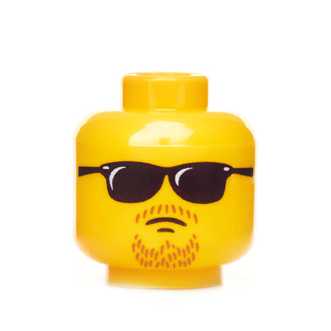 Cool Guy Head - Yellow